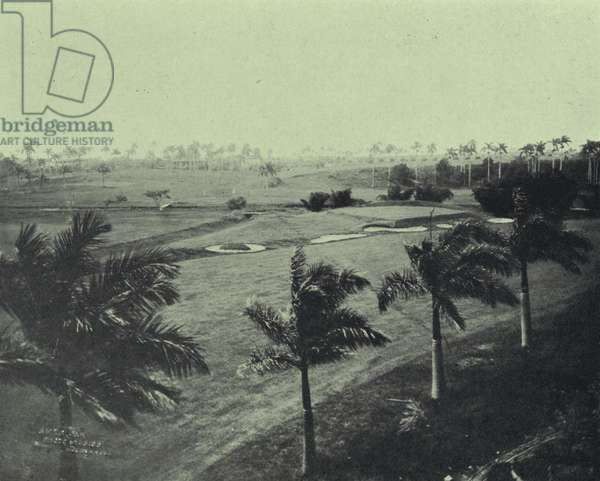 Country Club links golf course, Havana, Cuba (b/w photo)