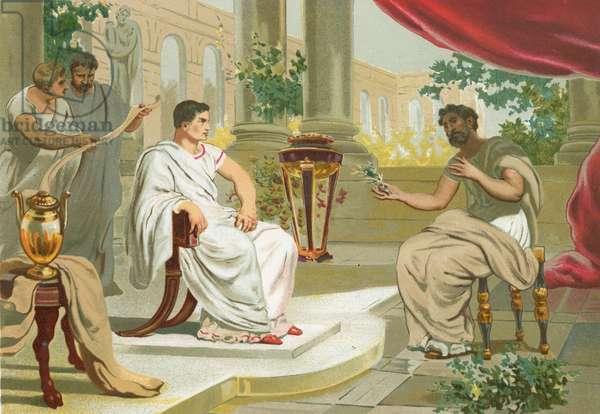 Conversation between Pliny the Elder and the emperor Vespasian