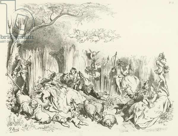 A Pastoral under Louis the XV (gravure)