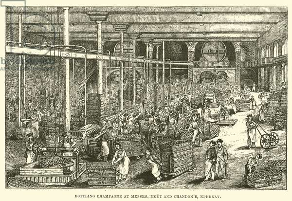 Bottling Champagne at Messrs, Moet and Chandon's, Epernay (engraving)