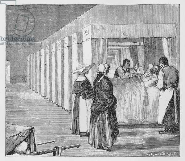 Illustration for The Assommoir, A Realistic Novel, by Emile Zola (engraving)