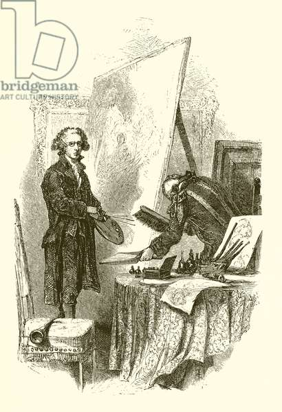 Sir Joshua Reynolds at Blenheim (engraving)