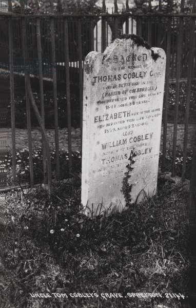 Uncle Tom Cobley's Grave, Spreyton (b/w photo)