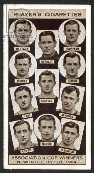 Association Cup Winners, Newcastle United, 1924 (litho)