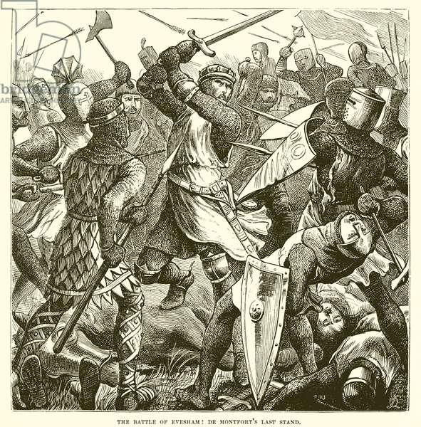 The battle of Evesham: De Montfort's last stand (engraving)
