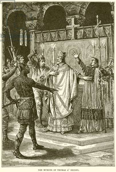 The Murder of Thomas A' Becket (engraving)