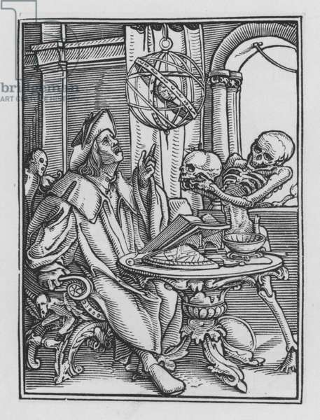 Holbein's Dance of Death: The Astrologer (engraving)