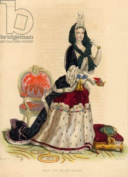 Madame de Maintenon (coloured engraving)