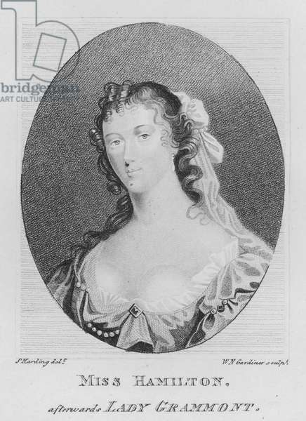 Miss Hamilton, afterwards Lady Grammont (engraving)