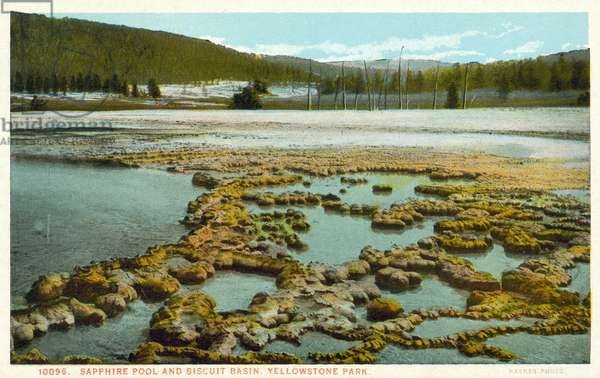 Sapphire Pool and Biscuit Basin, Yellowstone National Park, USA (colour photo)