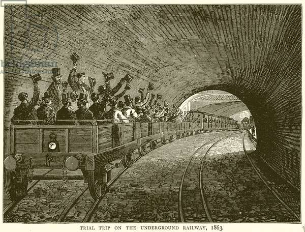 Trial Trip on the Underground Railway, 1863 (engraving)