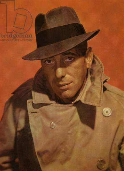 Portraits of film stars: Humphrey Bogart (photo)