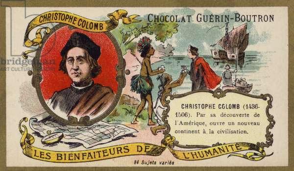 Christopher Columbus, Genoese explorer (chromolitho)