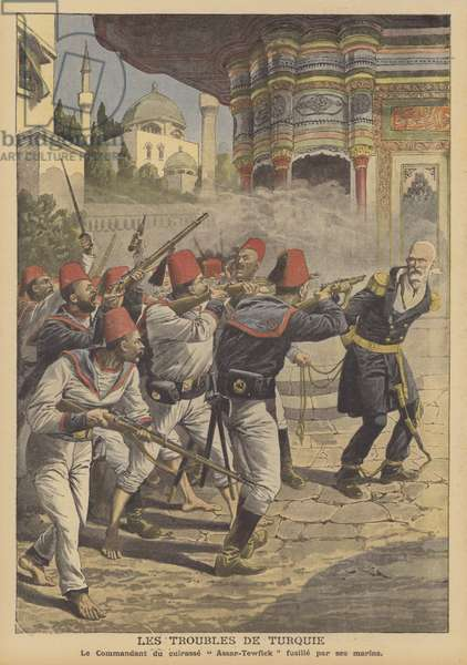 Troubles in Turkey (colour litho)