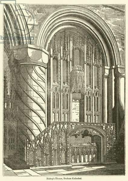Bishop's Throne, Durham Cathedral (engraving)