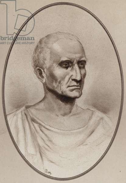 Portrait of Julius Caesar (litho)