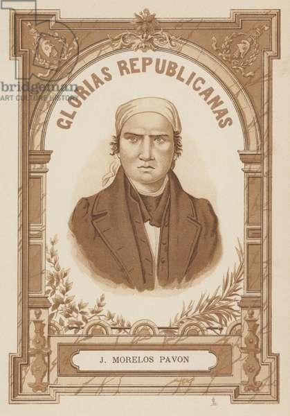 Jose Maria Morelos, Mexican revolutionary and politician (litho)