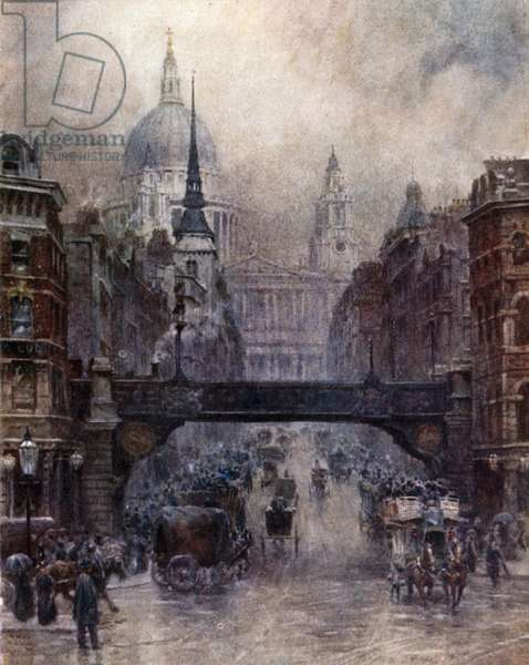London, St. Paul's and Ludgate Hill (colour litho)