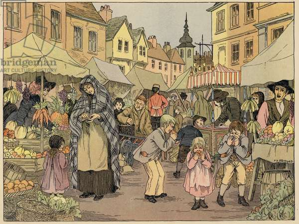 Bedford's Book of Shops: Fruit stalls (colour litho)