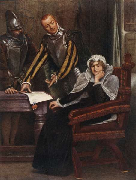 The Abdication at Lochleven Castle of Mary Stuart, Queen of Scots