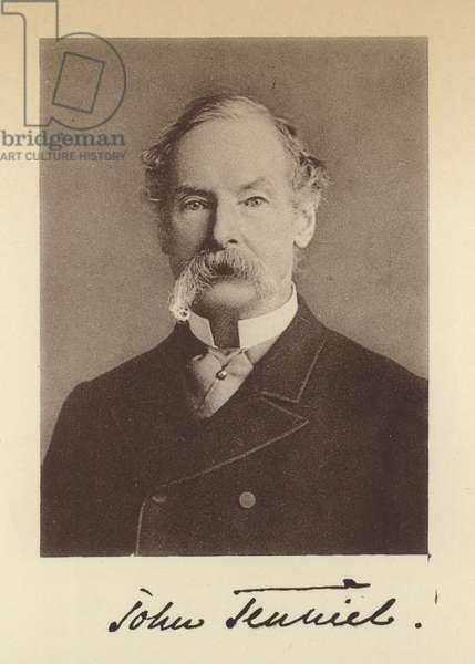 Sir John Tenniel (b/w photo)