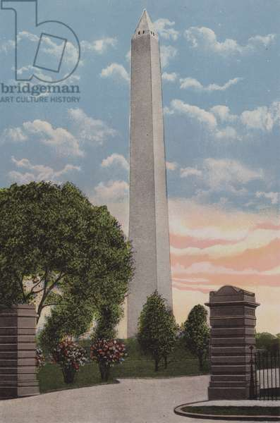 The Washington Monument, Washington DC (colour litho)