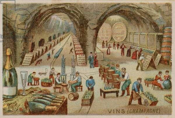 Wines (Champagne) (chromolitho)