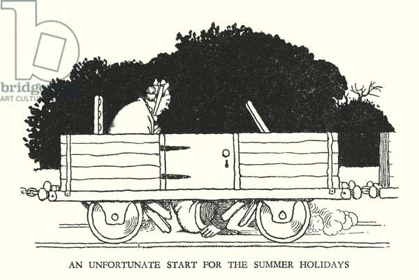 Illustration for Railway Ribaldry by W Heath Robinson (litho)