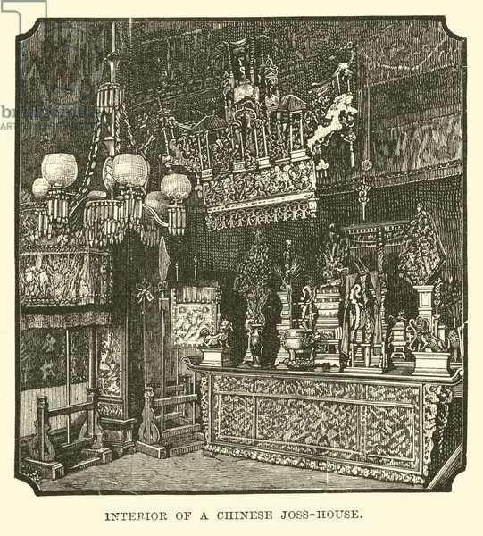 Interior of a Chinese Joss-House (engraving)