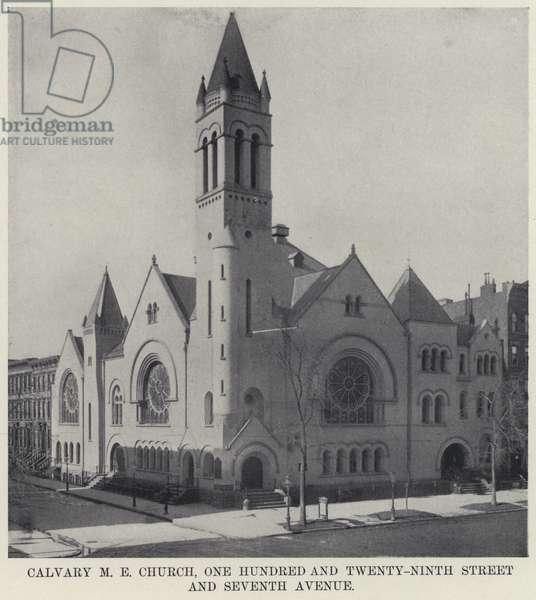 Calvary M E Church, One Hundred and Twenty-Ninth Street and Seventh Avenue (b/w photo)