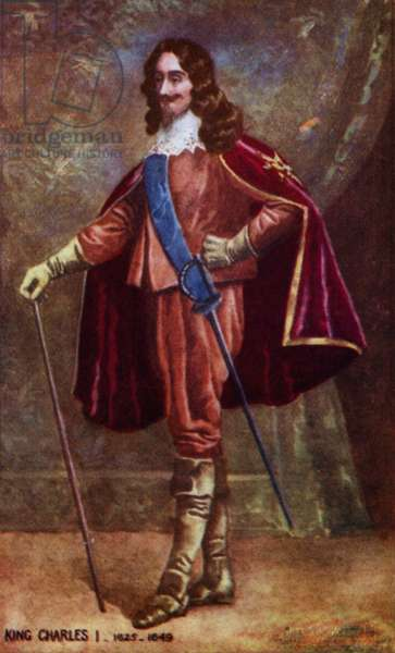 King Charles I (colour litho)