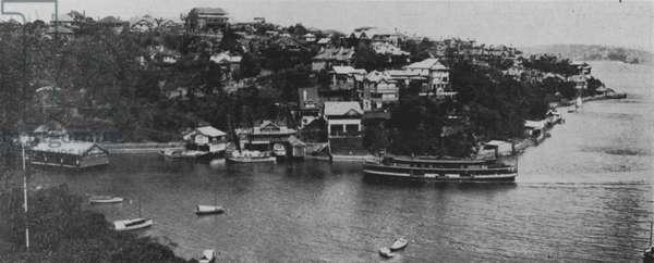 Sydney: Mosman Bay (b/w photo)