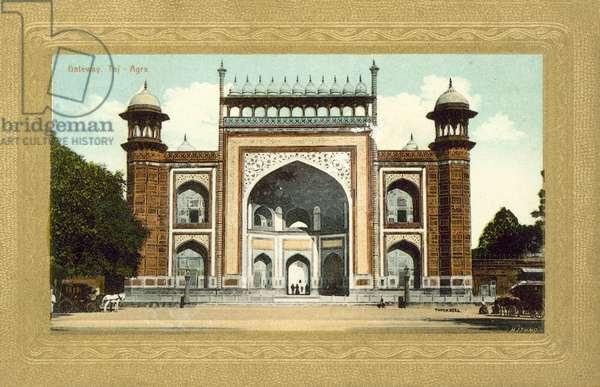 Gateway, Taj Mahal, Agra, India (colour photo)