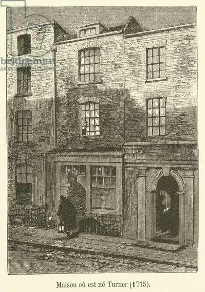 Maison ou est ne Turner, 1775 (engraving)