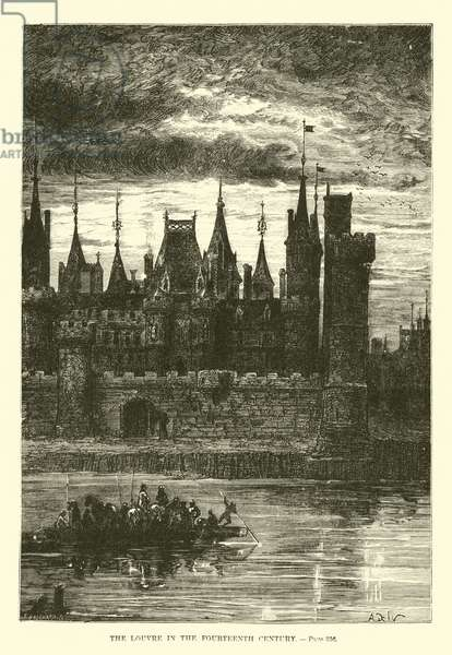 The Louvre in the Fourteenth Century (engraving)