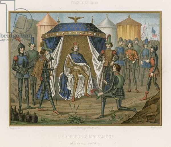 Charlemagne; Holy Roman Emperor (chromolitho)