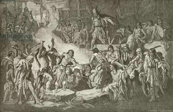 Captain Smith saved by Pocahontas (engraving)