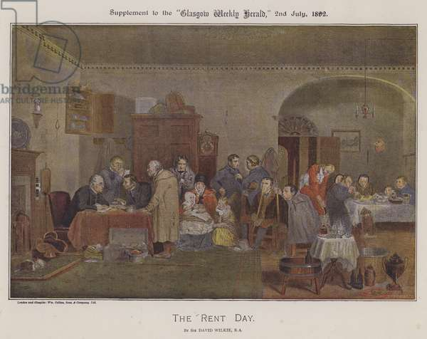 The Rent Day (colour litho)