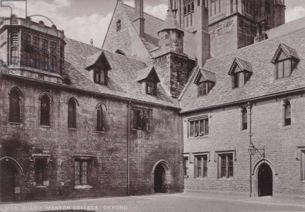 Mob Quadrangle Merton College, Oxford (b/w photo)