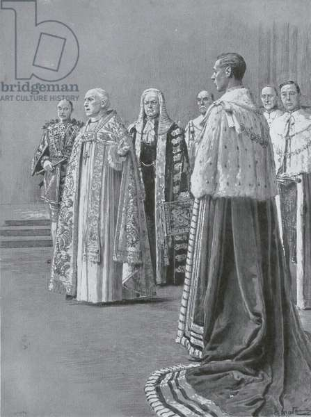 The Recognition, the third phase of the coronation of King George VI (litho)