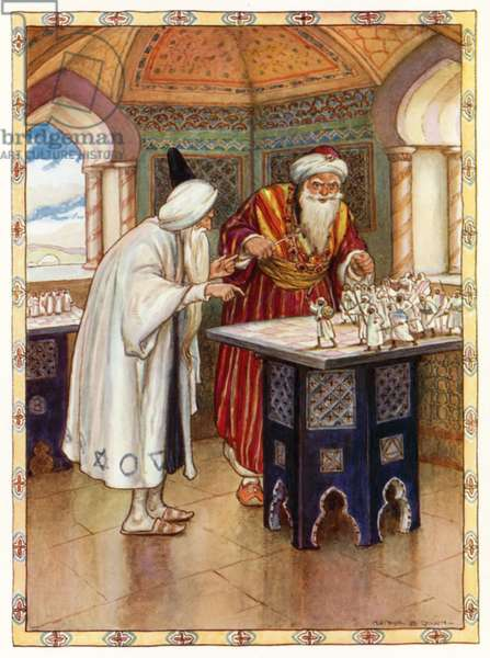 Tales of the Alhambra, The Arabian Astrologer (colour litho)