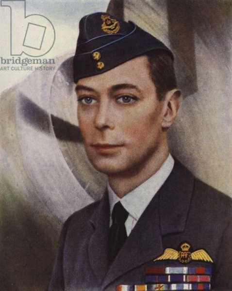 Portrait of King George VI (colour photo)