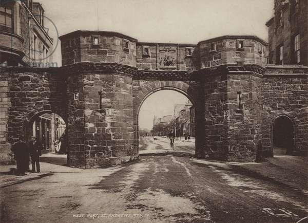West Port, St Andrews (b/w photo)