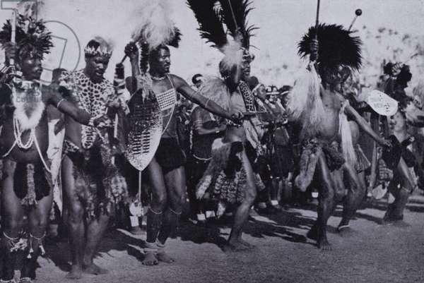 Zulu War Dance (b/w photo)