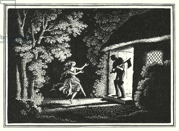 Hans Christian Andersen: The Red Shoes (litho)