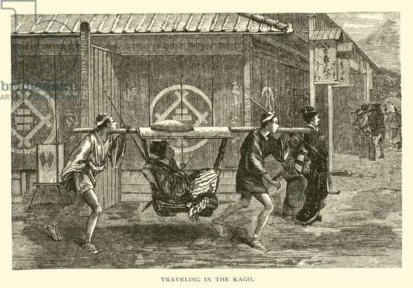 Traveling in the Kago (engraving)