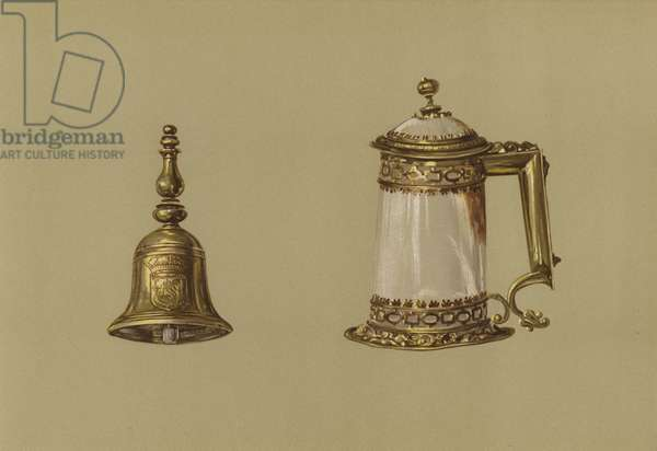 Hand-Bell of Mary Queen of Scots, Covered Tankard of Agate (chromolitho)