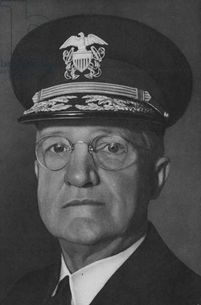 Admiral Harold R Stark, Commander United States Naval Forces in Europe (b/w photo)