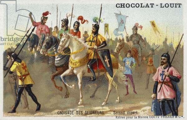 Second departure of the Princes' Crusade, 1st Crusade, 1096 (chromolitho)