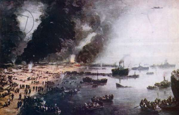 Evacuation from Dunkirk, May-June 1940 (colour litho)